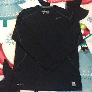 Mens Nike Pro Combat Fitted Base Layer Shirt
